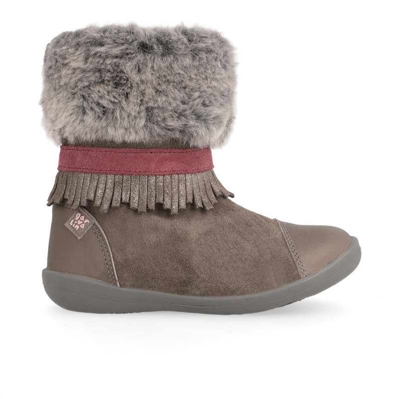 Girls´ leather and fur boot Lola