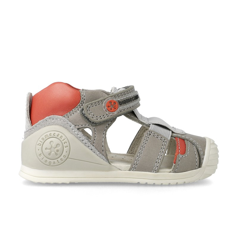 Leather sandals for baby boy