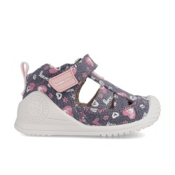 Canvas sneakers for baby girl Alexia