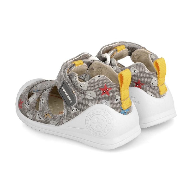 Canvas sneakers for baby boy Adriano