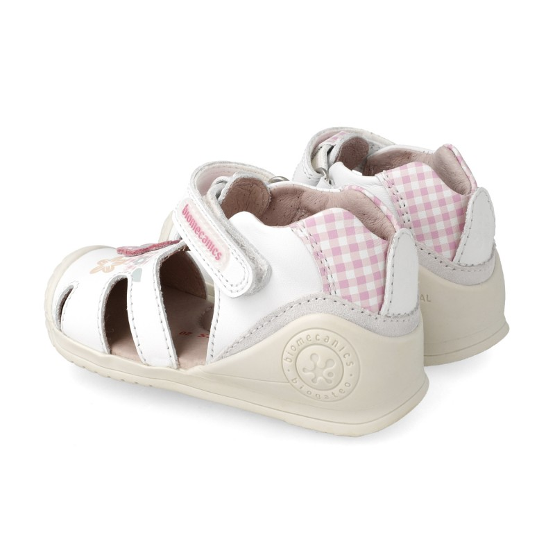 Leather sandals for baby girl Olivia