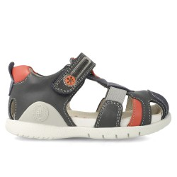 Leather sandals for boy Yago