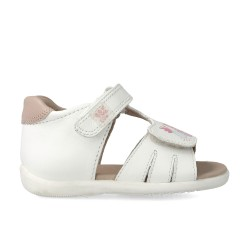 Leather sandals for girl Magali