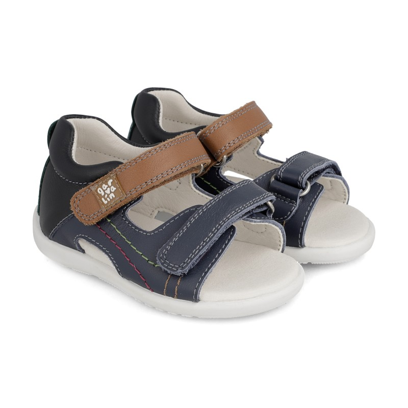 Leather sandals for boy Edu