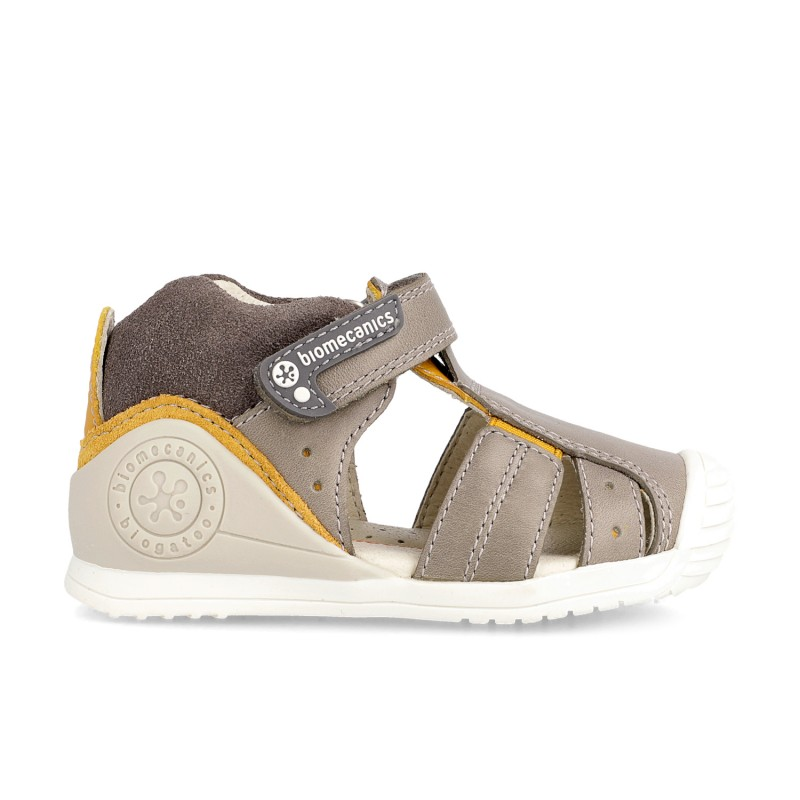 Leather sandals for baby boy Zaid