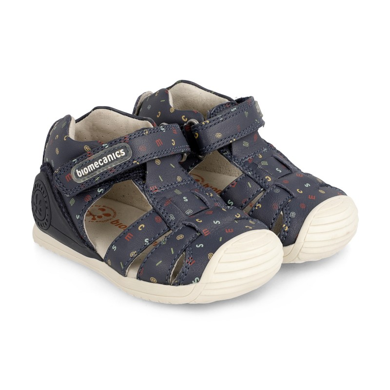Leather sandals for baby Ariel