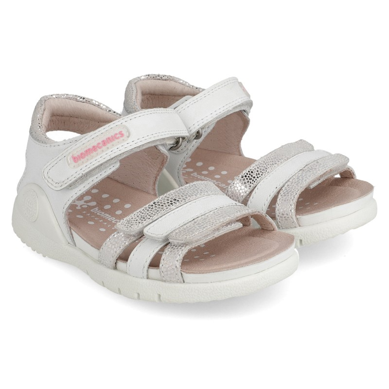 Leather sandals for girl Zoe