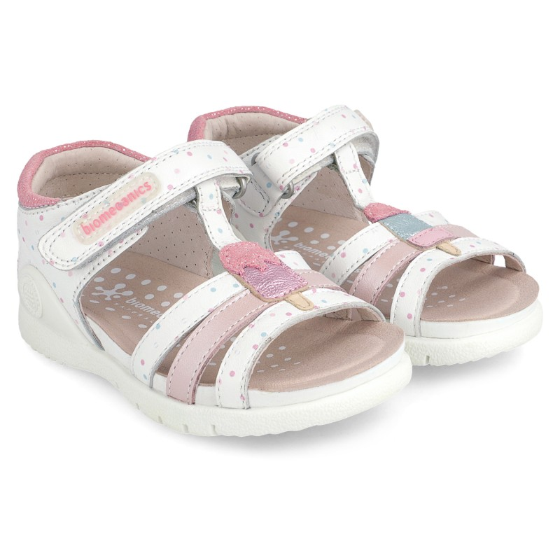 Leather sandals for girl Tamara