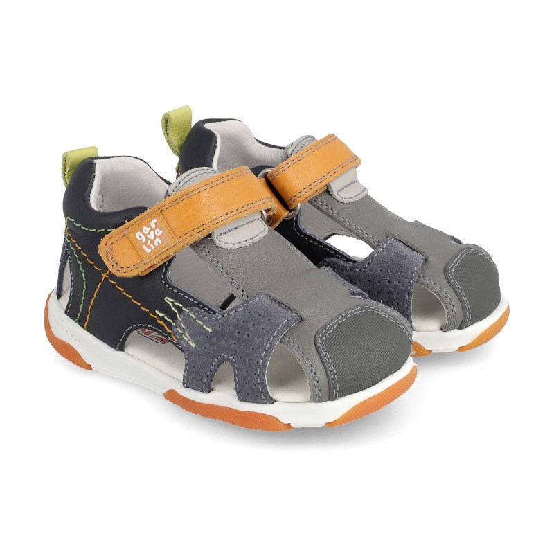 Leather sandals for boy Unax