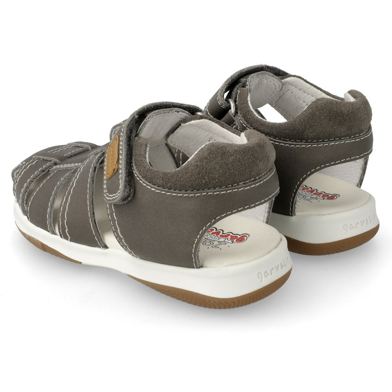 Leather sandals for boy Fausto