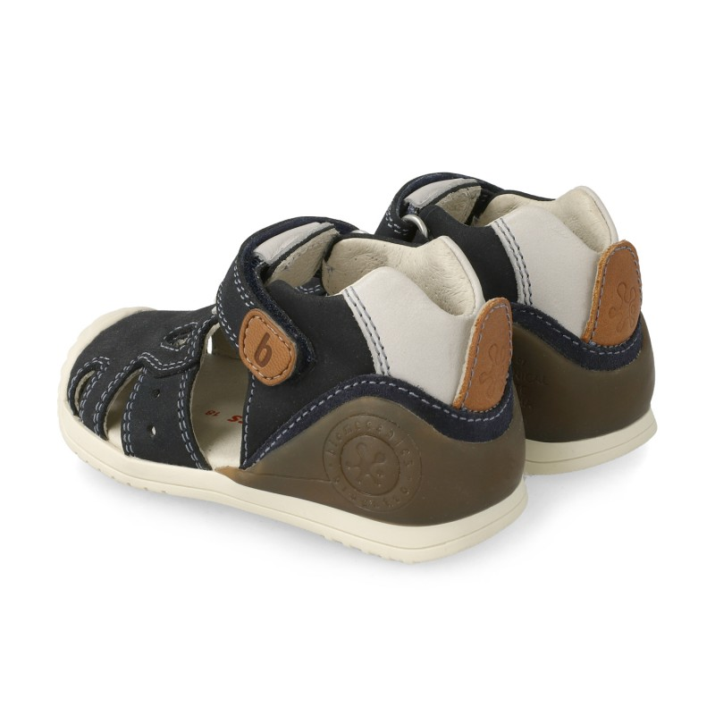 Leather sandals for baby boy Brais