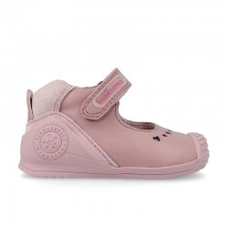 Leather baby girl shoes Daniela