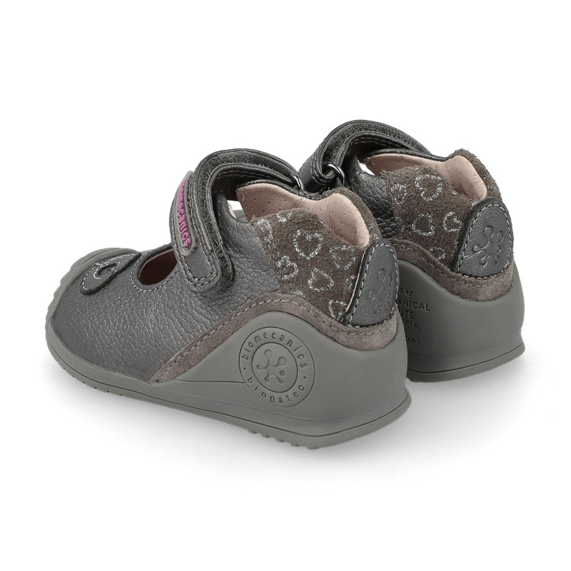 Leather baby girl shoes Adele