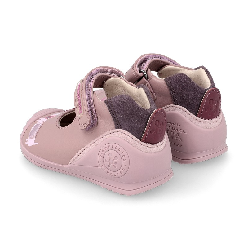 Leather baby girl shoes Carina