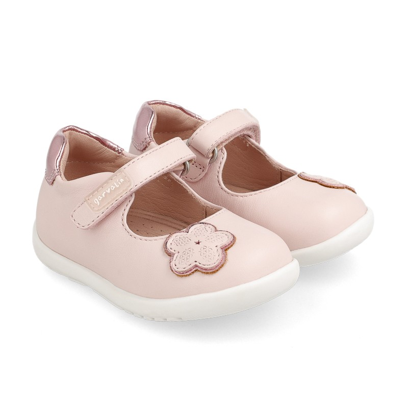 Leather shoes for baby girl Anastasia