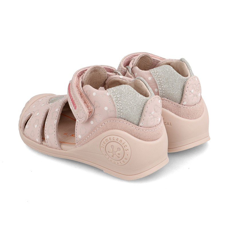 Leather sandals for baby girl Virginia