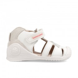 Leather sandals for baby girl Almu