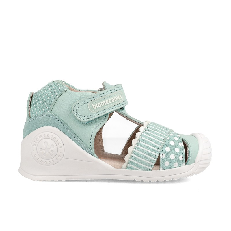 Leather sandals for baby girl Alma