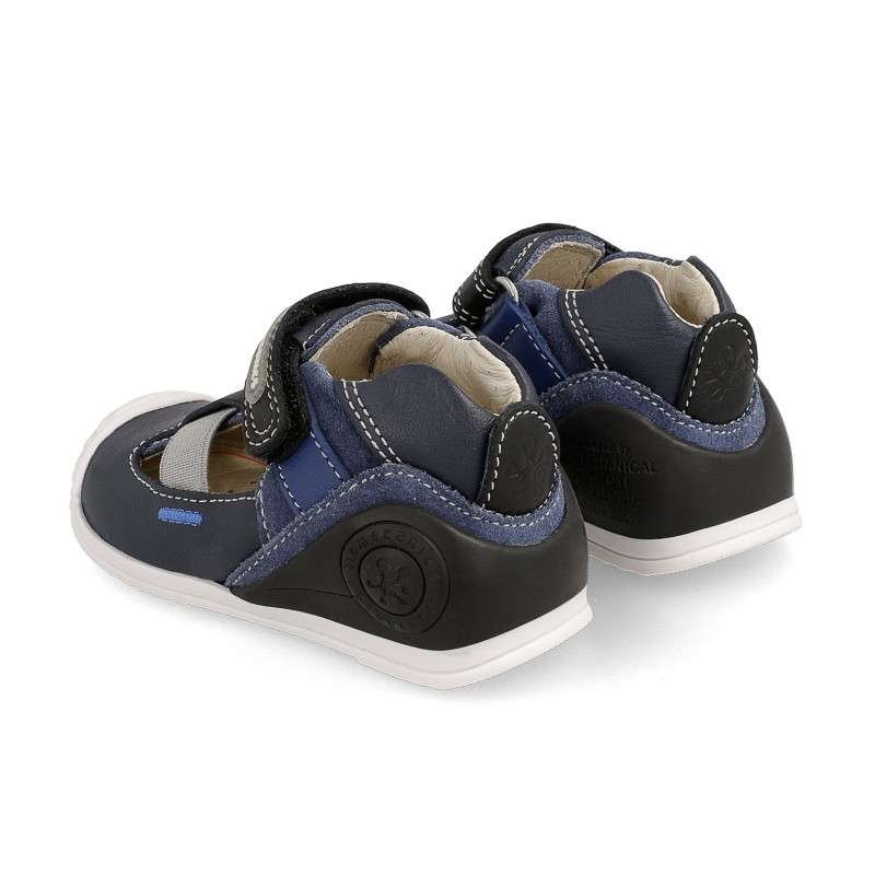 Leather sandals for baby boy Gaetan