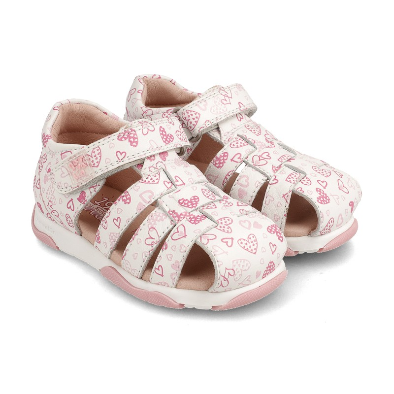 Leather sandals for baby girl Belma