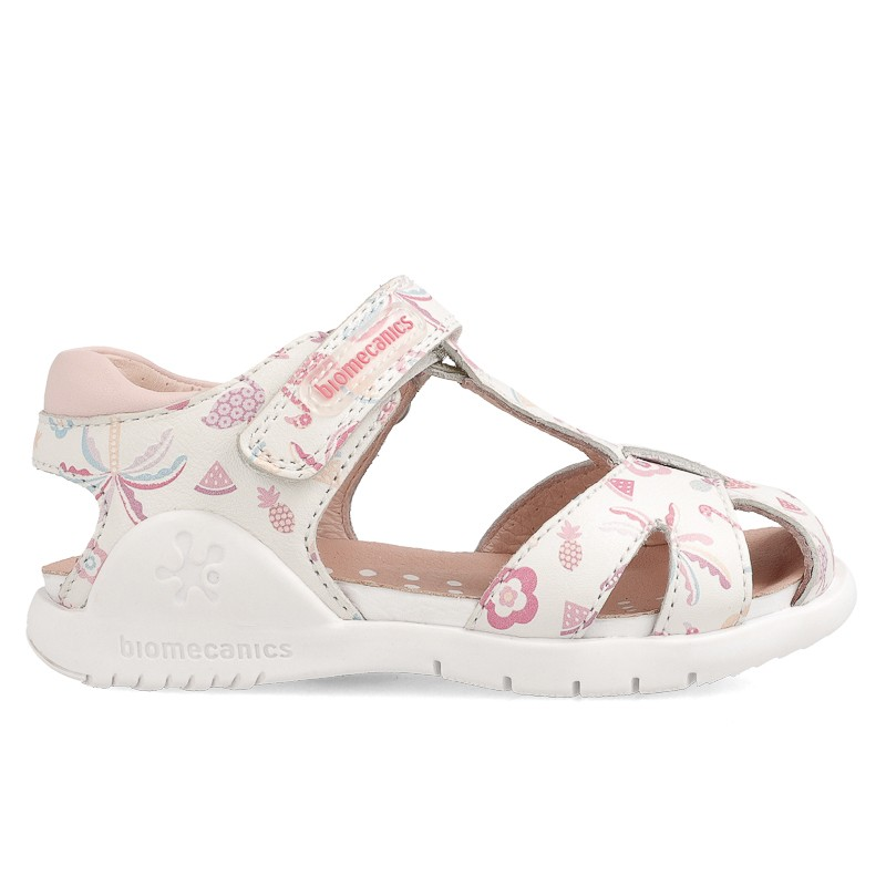 Leather sandals for girl Azahara