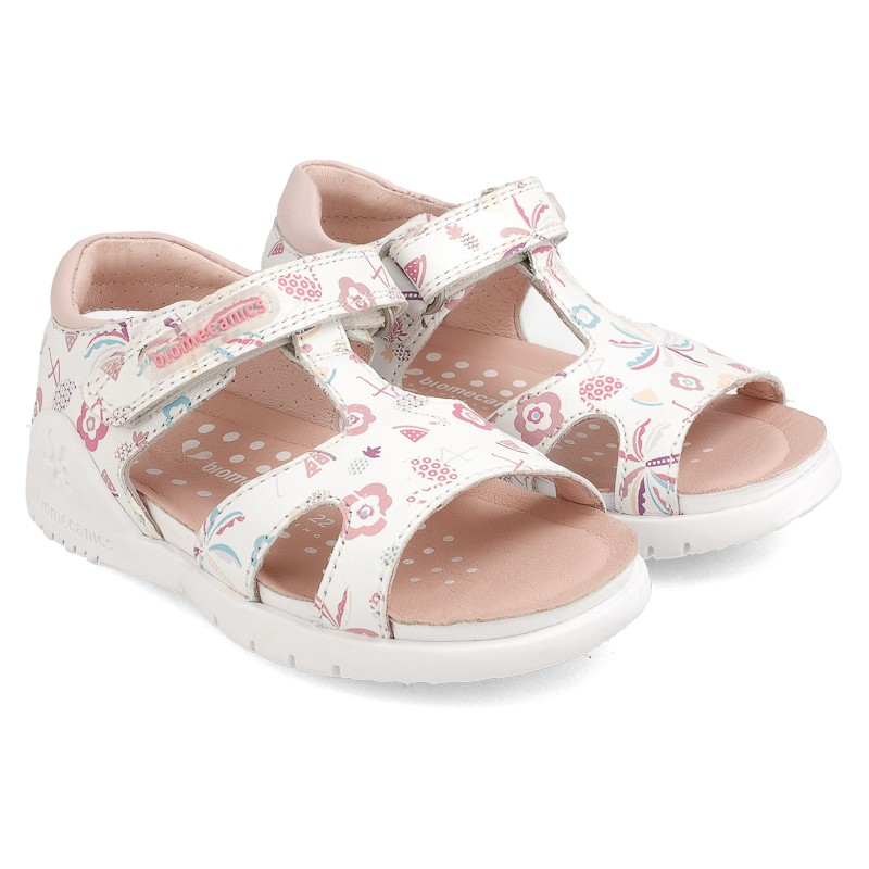 Leather sandals for girl Babette