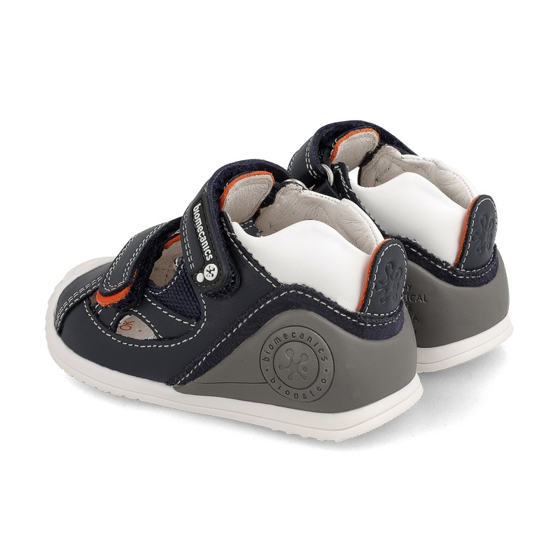 Leather sandals for baby boy Bram