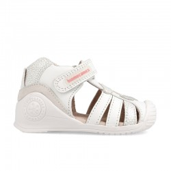 Leather sandals for baby girl Ágatha