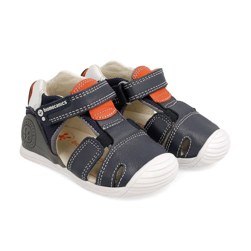 Leather sandals for baby boy Nereo