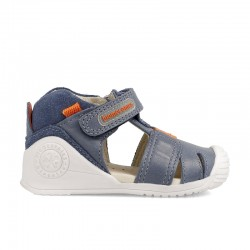 Leather sandals for baby boy Gino