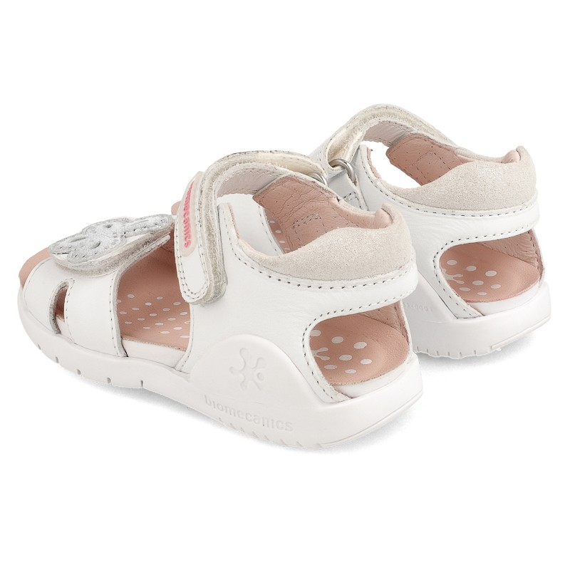 Leather sandals for girl Aroa