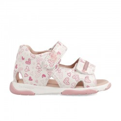 Leather sandals for baby girl Mael