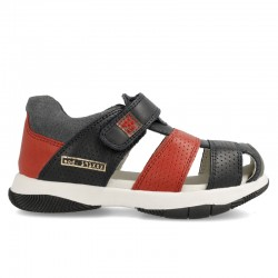 Leather sandals for boy Unai