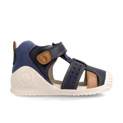 Leather sandals for baby boy Uxio