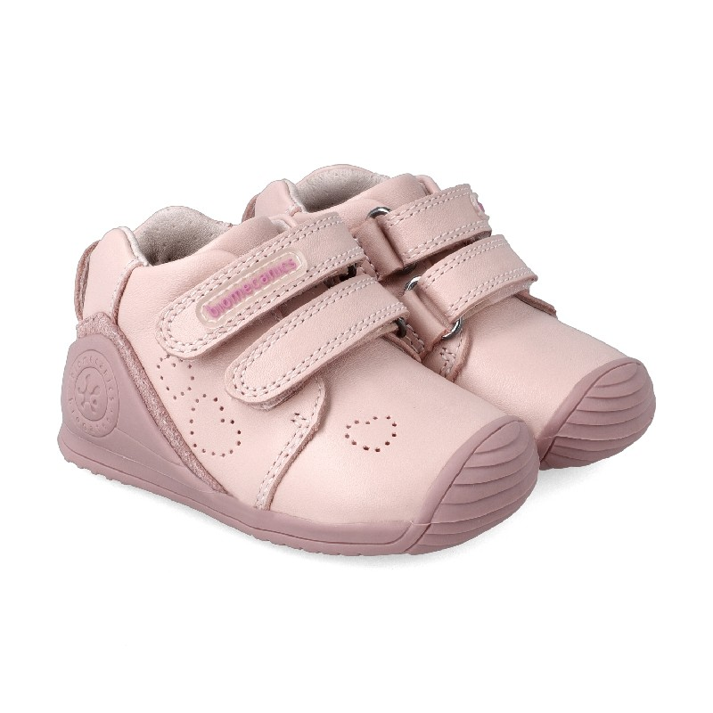 Leather ankle boot for baby Daia