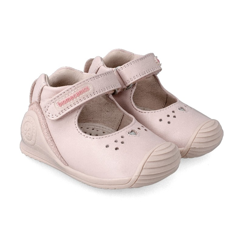 Leather shoes for baby girl Aurore