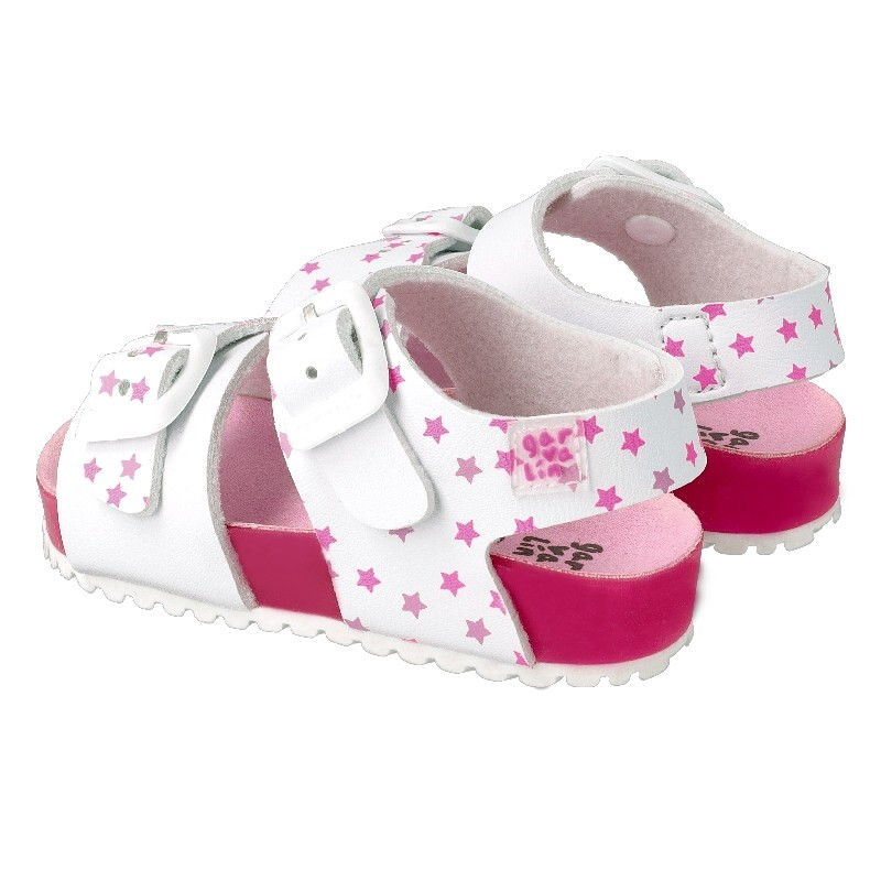 Leather sandals for girl Marina