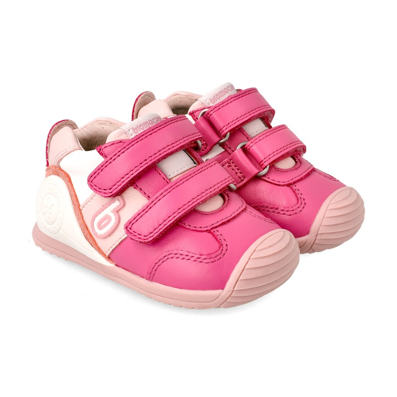 Leather trainers for baby Dina