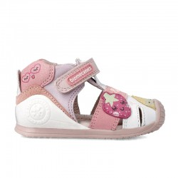 Leather sandals for girl Gia