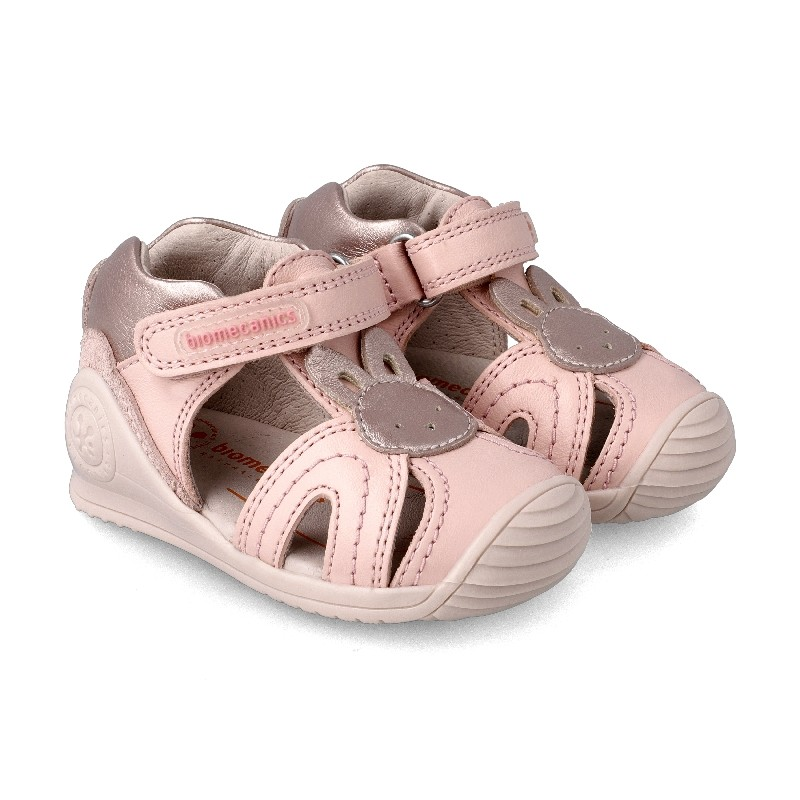 Leather sandals for girl Ópalo