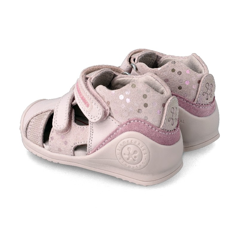 Leather sandals for baby girl Berta