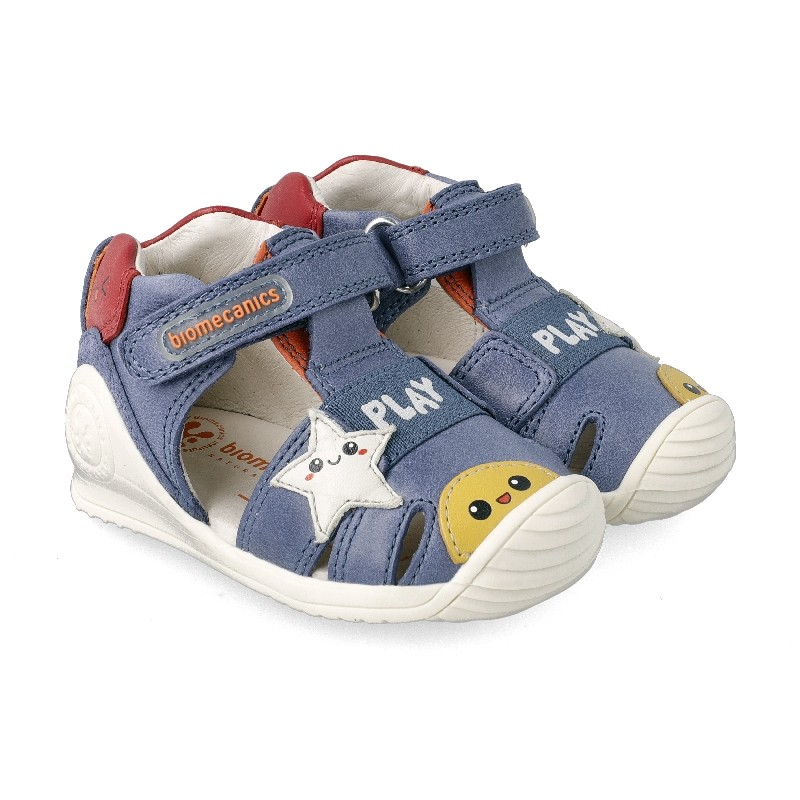 Leather sandals for baby boy Jake