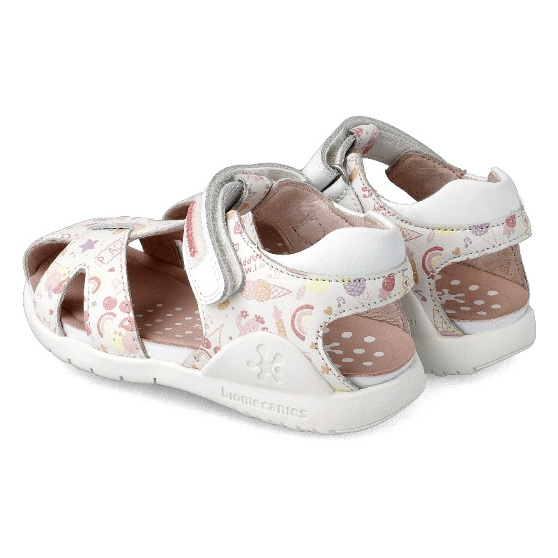 Leather sandals for girl Freda