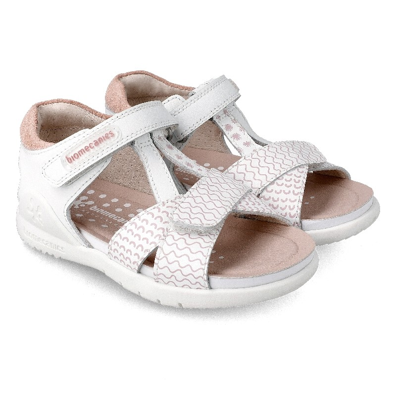 Leather sandals for girl Ikia