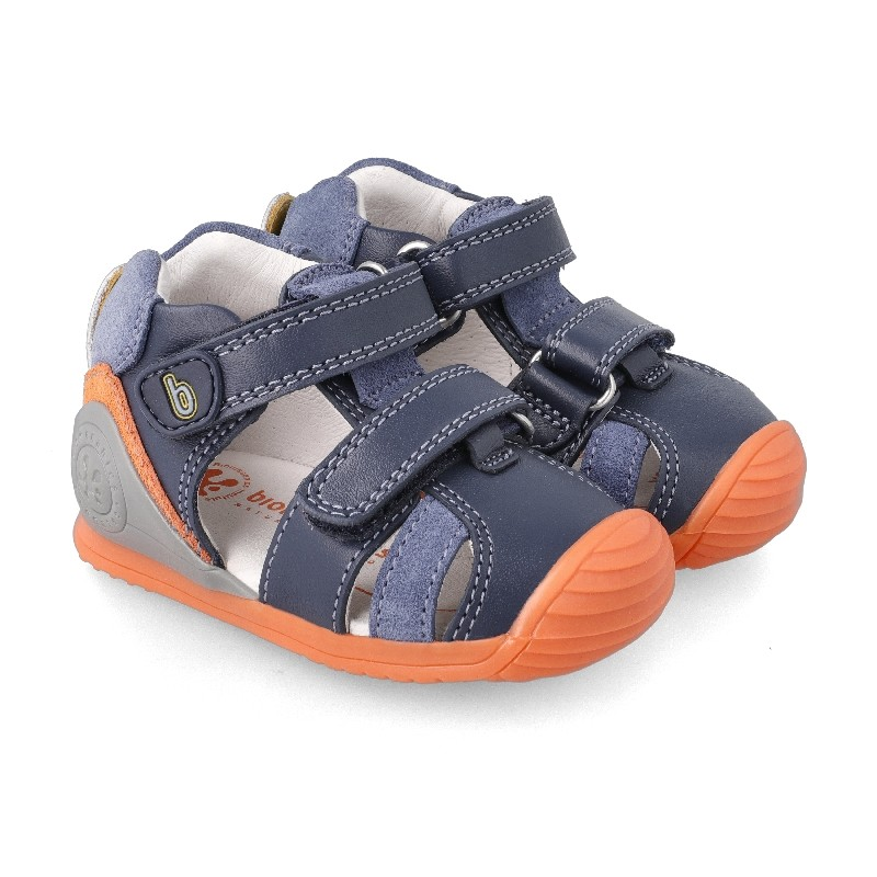 Leather sandals for baby boy Riley