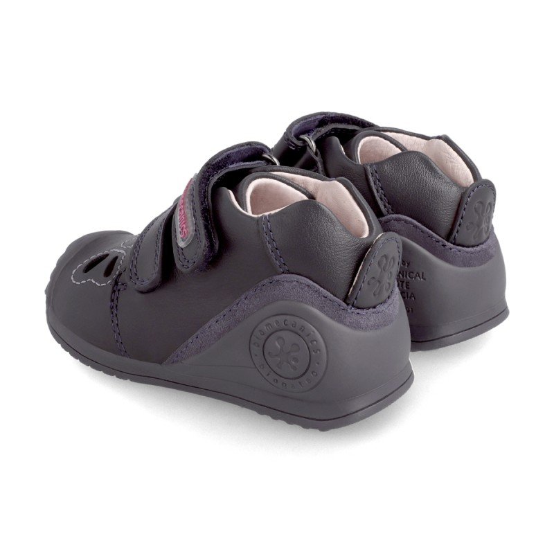Leather ankle boot for baby 211106