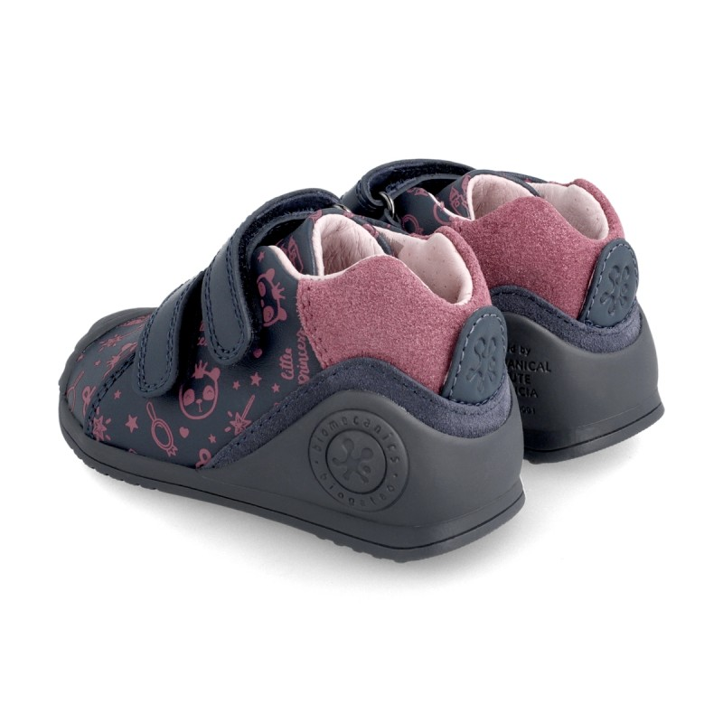 Leather ankle boot for baby 211113