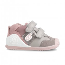 Leather sneakers for baby girl  211126