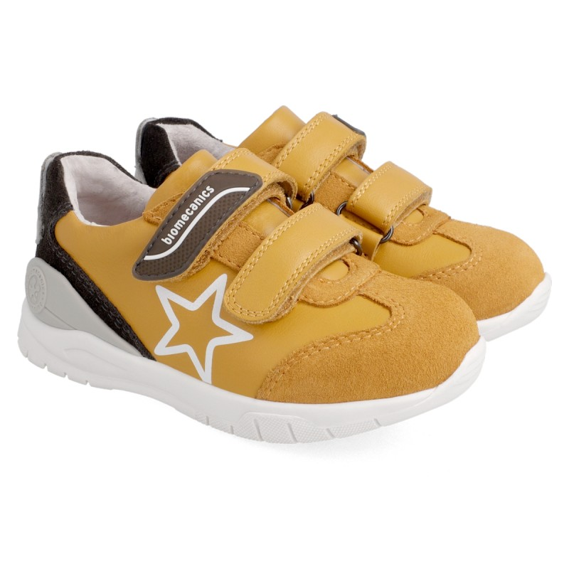 Leather sneakers for boy 211228