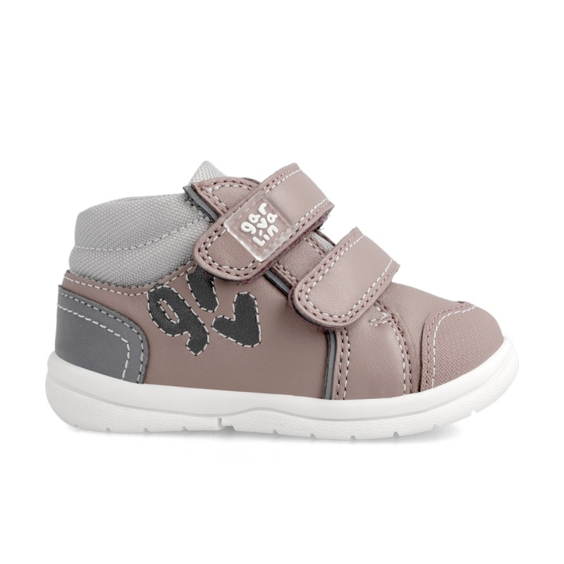Leather ankle boot for girl & boy 211601